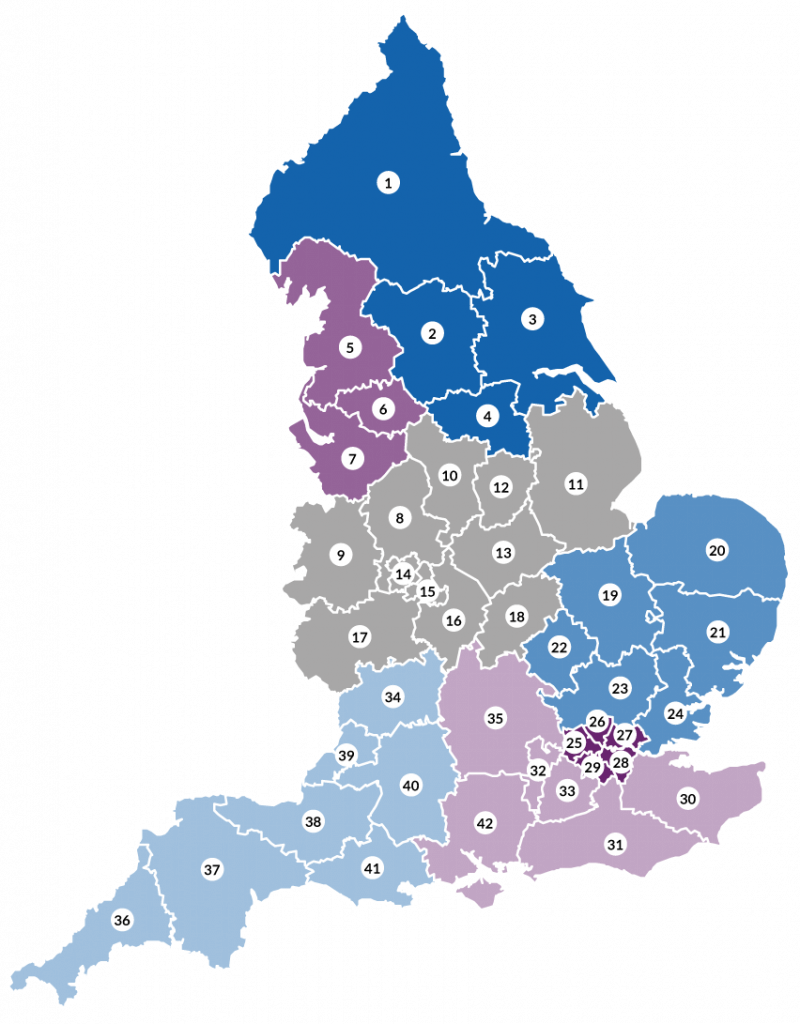 VCHA regions map